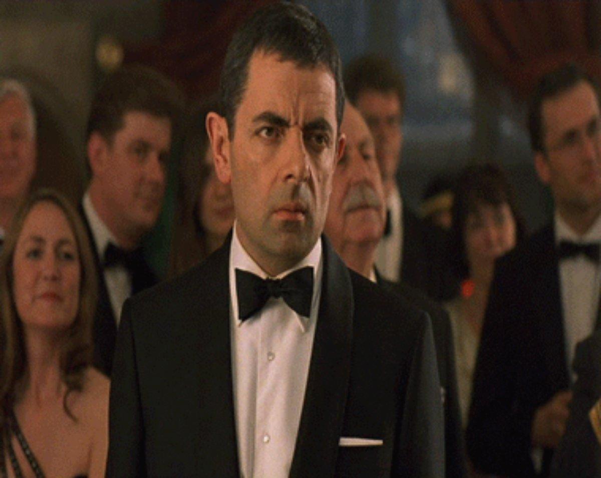 Mr Bean Eye Roll Gif