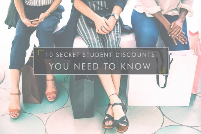 10 Secret Student Discounts You Need To Know