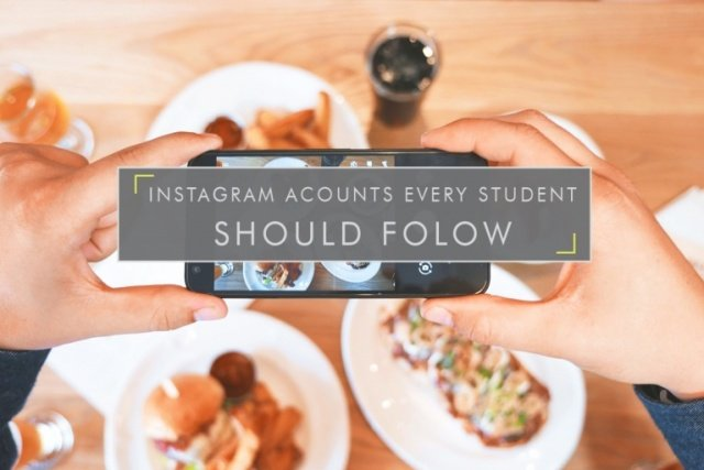 Instagram Accounts EVERY Student should follow