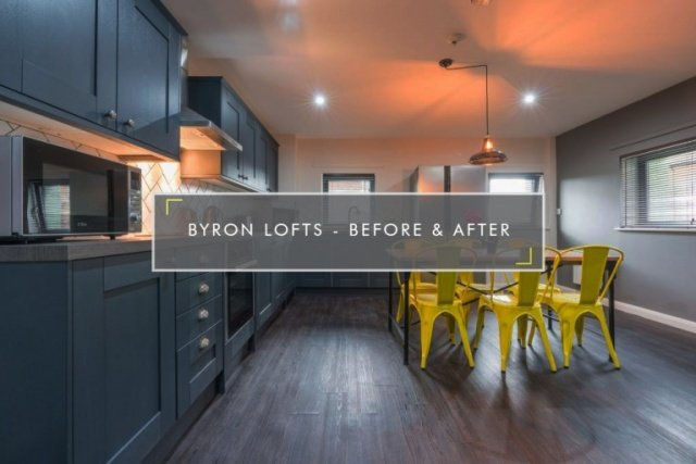 Byron lofts Newcastle before and after