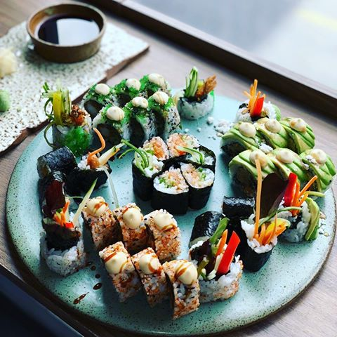 Different types of sushi in Sushi Me Rollin'