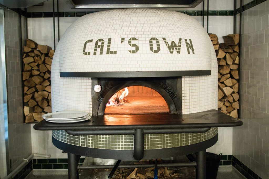 A pizza oven in Cal's own