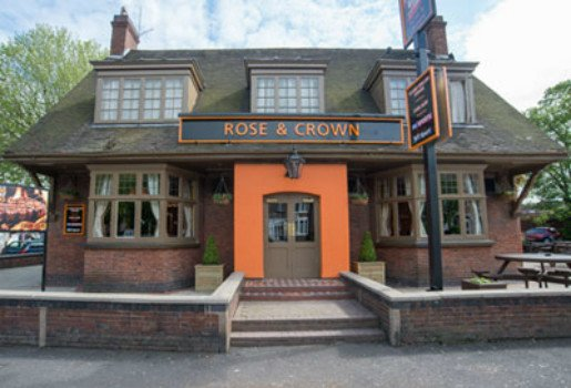 Exterior view of the Rose and Crown